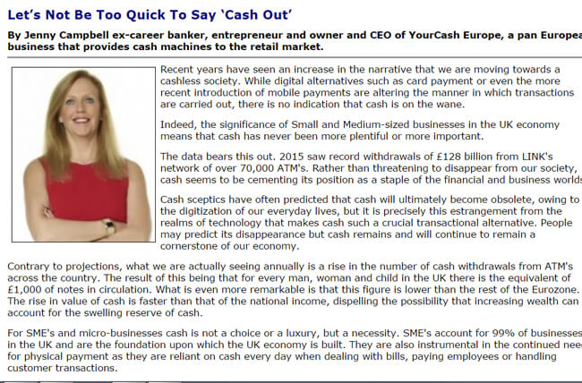 Cash News – Let's Not Be Too Quick To Say 'Cash Out'