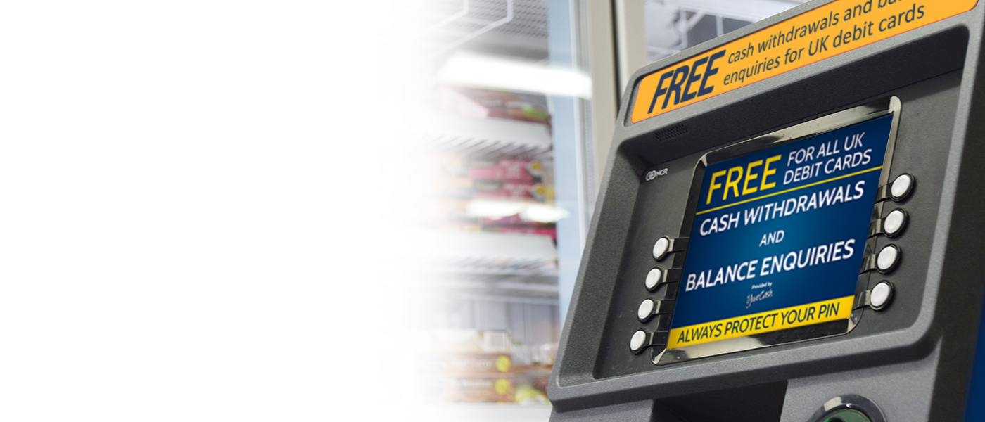 We install and maintain FREE cash machines into your business.